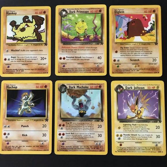 Pokemon Cards Vintage Team Rocket Set